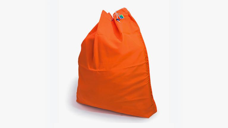 Saco de ropa para lavandería plano Naranja